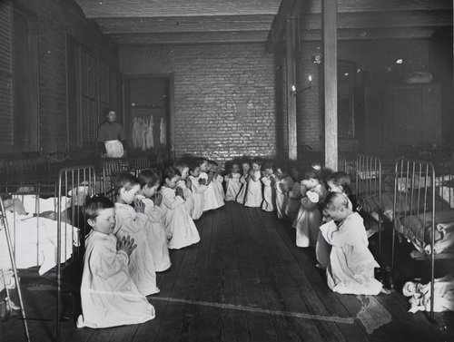 Children at the Five Points House of Industry mission on Worth Street.